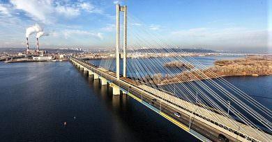 Kiev'de Güney Köprüsü'nde trafik iki hafta süreyle kısıtlanacak