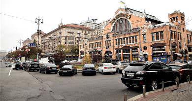 Kiev şehir merkezinde trafik kısıtlamaları ve yüksek park ücretleri önerisi