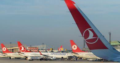 Türk Havayolları Ukrayna'da en çok uçuş yapan havayolları içerisinde
