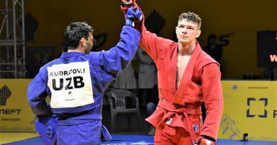 Ukraynalı sambo güreşçisinden dünya şampiyonasında altın madalya