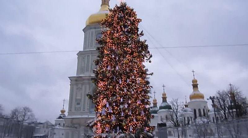Kiev'de Yılbaşı-Noel eğlenceleri başladı