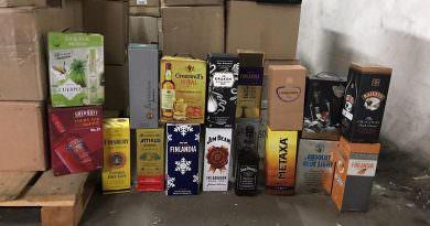 Ukrayna'da 12 bin litre sahte marka alkol geçirildi (video)