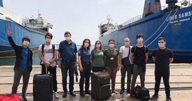 85 Ukraynalı daha Türkiye'den feribotla Ukrayna'ya dönüyor