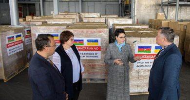 Azerbaycan'dan Ukrayna'ya 23 ton tıbbi malzeme desteği