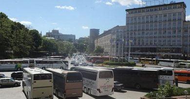 Kiev otobüsler protesto