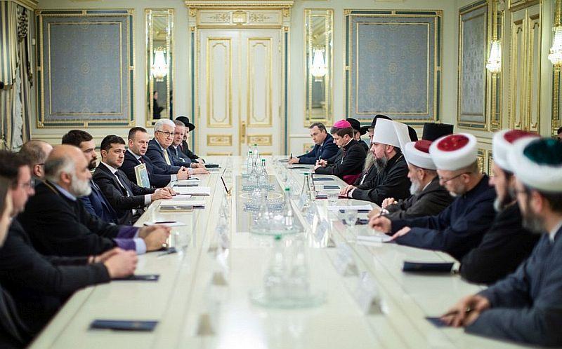 Tüm Ukrayna Kiliseler ve Dini Organizasyonlar Konseyi Ukrayna Cumhurbaşkanı Vladimir Zelenskiy