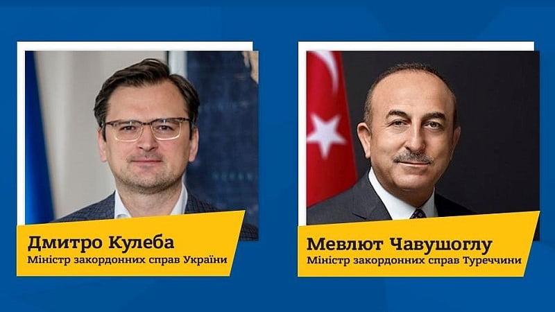 Ukrayna Dışişleri Bakanı Dmitriy Kuleba, Türkiye Cumhuriyeti Dışişleri Bakanı Mevlüt Çavuşoğlu