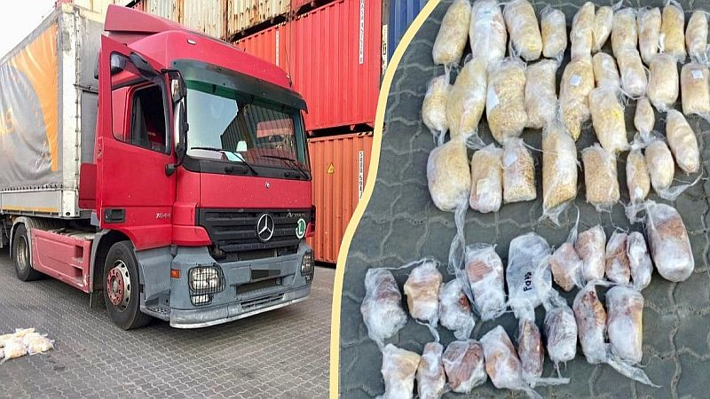 Ukrayna'dan kehribar çıkarmaya çalışan bir Türk tırı yakalandı