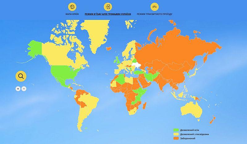 Ukraynalılar için seyahat edebilecekleri ülkeleri gösteren online harita yayınlandı