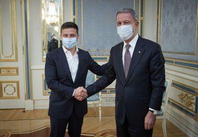 Milli Savunma Bakanı Hulusi Akar, Zelenskiy ile görüştü
