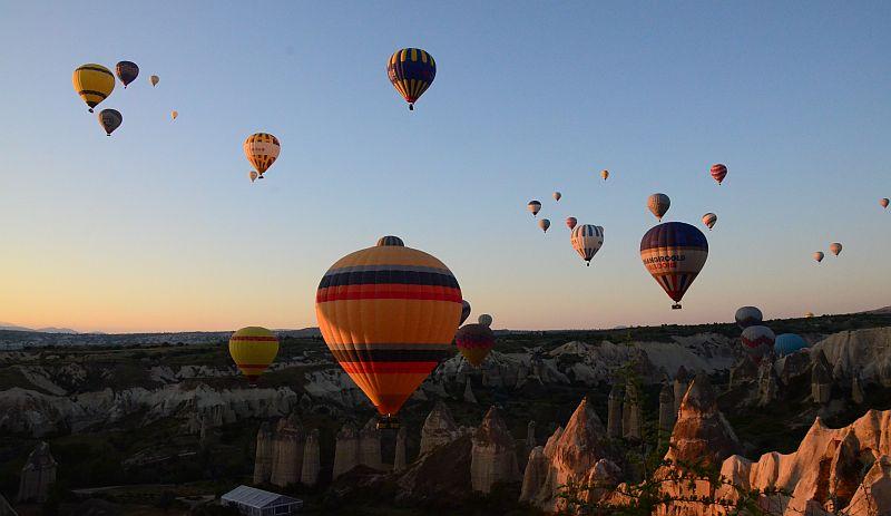 Kapodokya balon turlarında