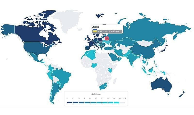 Ukrayna, Dijital Yaşam Kalitesi sıralamasında 65, Türkiye 44. sırada