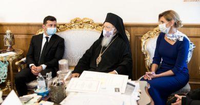 Ukrayna Cumhurbaşkanı ve eşi Olena Ekümenik Patrik Bartholomeos ile görüştü